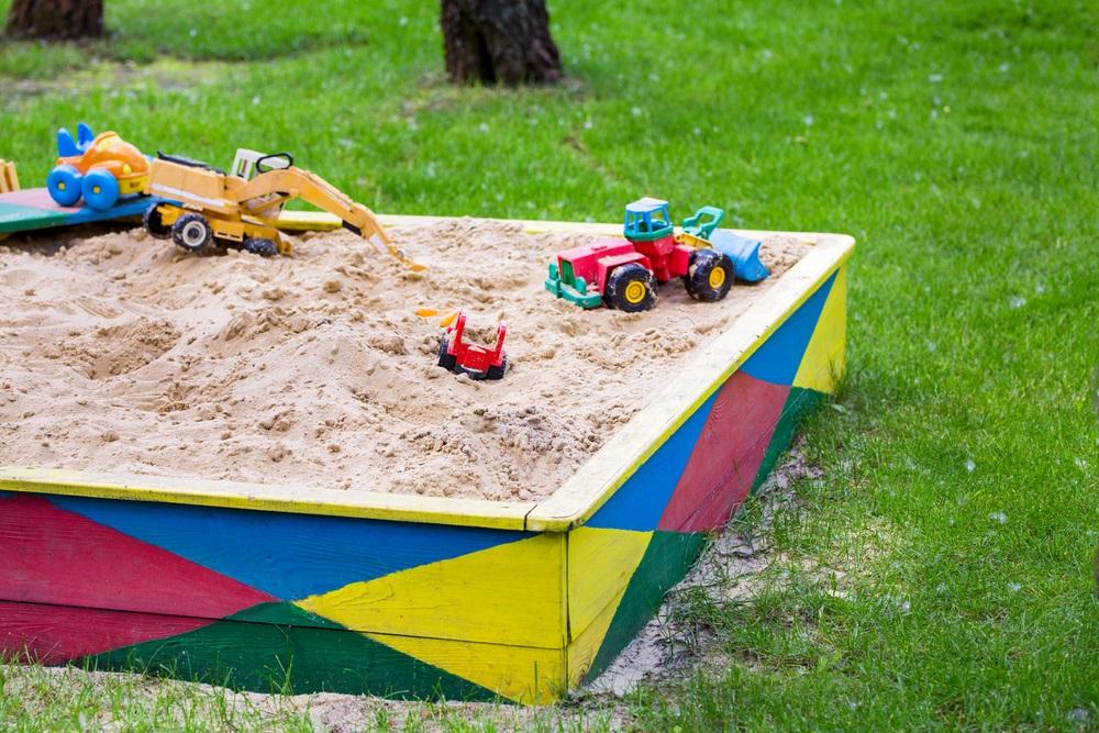zandbak zelf maken
